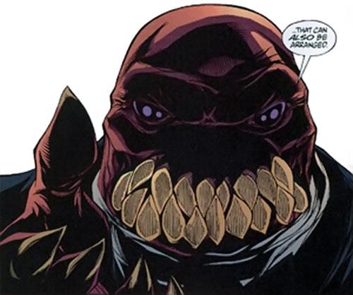 Slackjaw (Spyboy enemy comics) face closeup