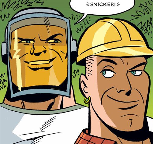 Slash & Burn (Poison Ivy / Harley Quinn enemies) (DC Comics) faces closeup