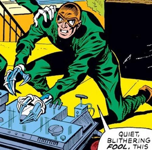 Slasher (Iron Man enemy) (Marvel Comics) operating a machine