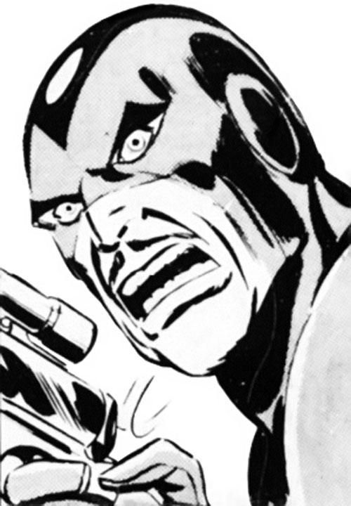 Slaymaster (Captain Britain enemy) face closeup