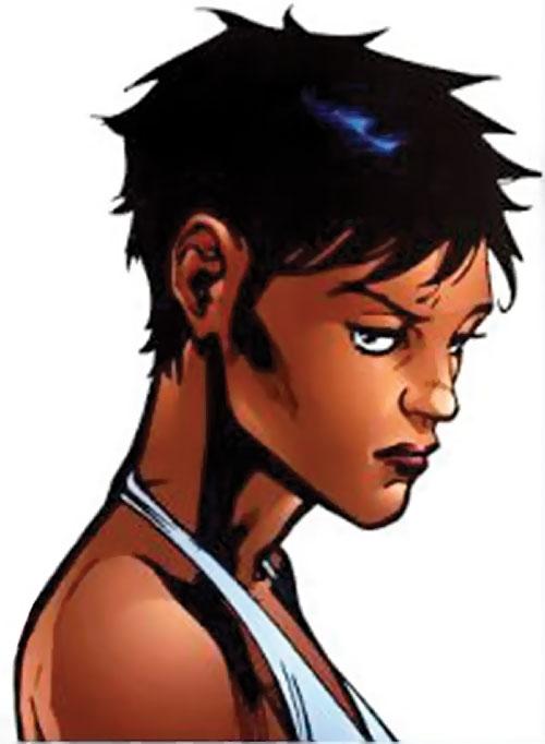 Slingshot aka Menagerie of Dynamo 5 (Image Comics) annoyed face closeup