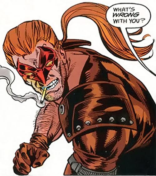 Slyfox (Catwoman villain) (DC Comics) smoking