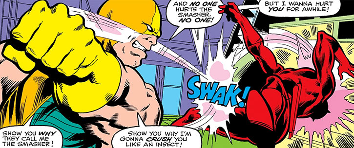 The Smasher punches Daredevil