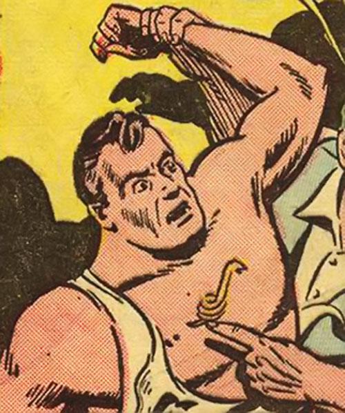 The Snake (Superman enemy) unmasked