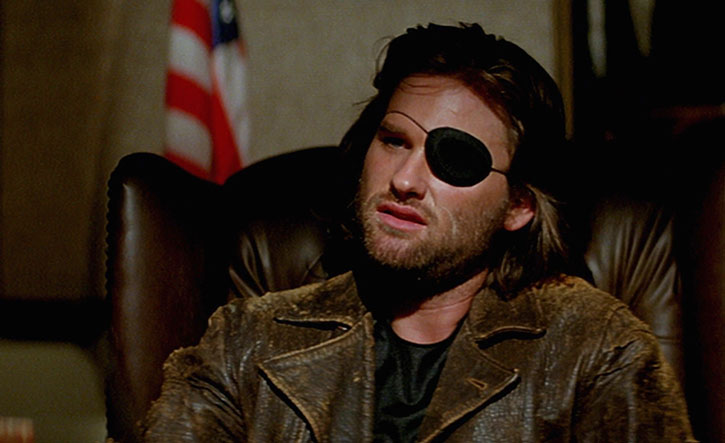 Snake Plissken (Kurt Russell) with his brown leather jacket