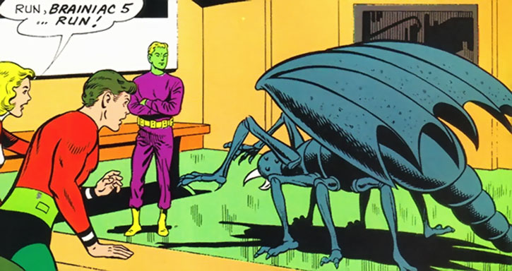 Saturnian Scorpion Beast vs. Brainiac 5 (Legion of Super-Heroes) (DC Comics)