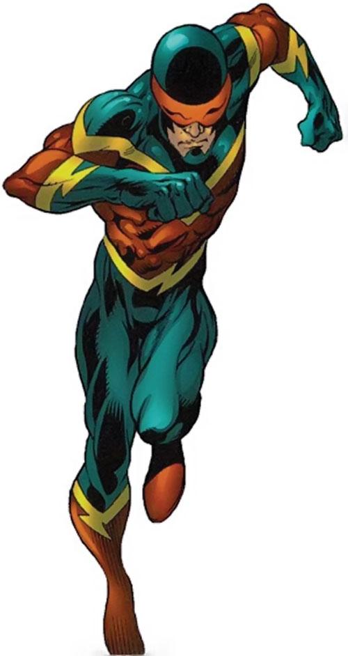 Speed Demon (Spider-Man enemy) (Marvel Comics) running