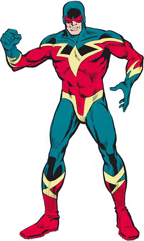 Speed Demon (Spider-Man enemy) (Marvel Comics) posing