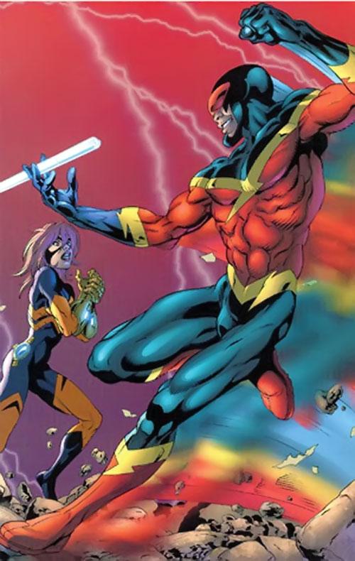 Speed Demon of the Thunderbolts (Marvel Comics) vs. Joystick