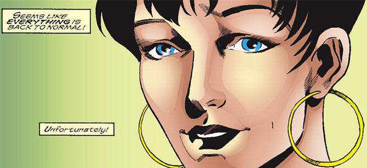 """Spider-Girl (May """"Mayday"""" Parker) face closeup"""