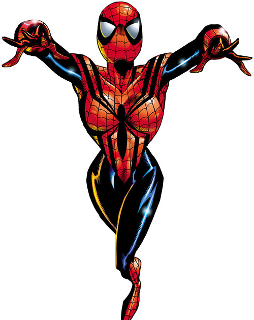 Spider-Girl (May Mayday Parker) (Marvel Comics MC2) leaping forward