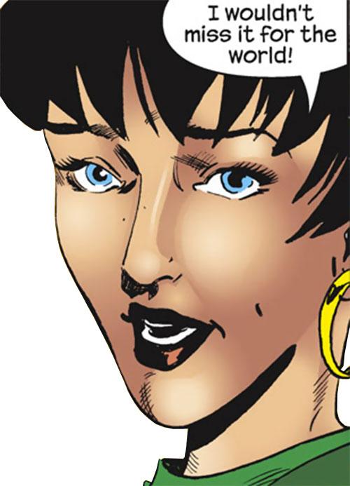 Spider-Girl (May Mayday Parker) (Marvel Comics MC2) face closeup