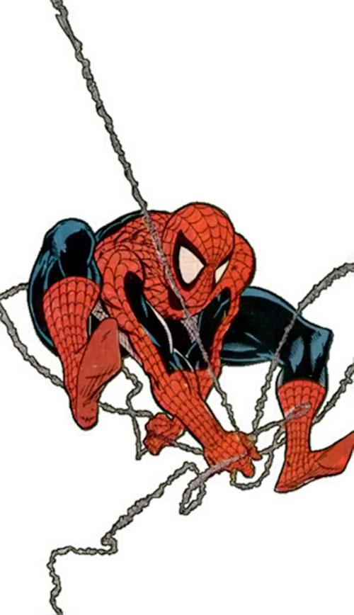 Spider-Man (Marvel Comics) (Peter Parker) web-slinging by MacFarlane