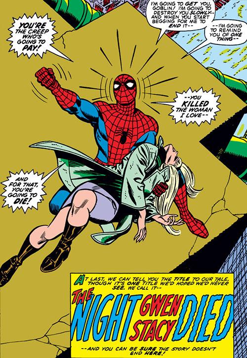 Spider-Man (Marvel Comics) (Peter Parker) - death of Gwen Stacy