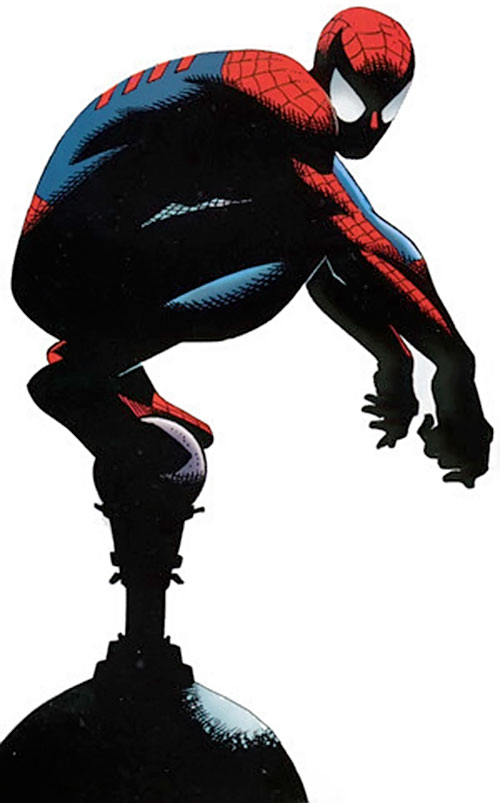 Spider-Man (Marvel Comics) (Peter Parker) perched