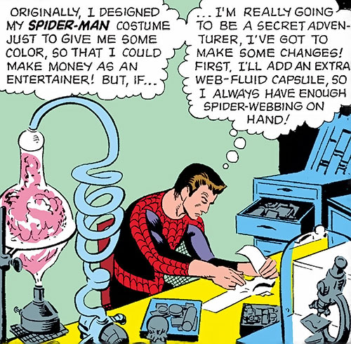 Early Spider-Man (Marvel Comics Lee Ditko) in the lab