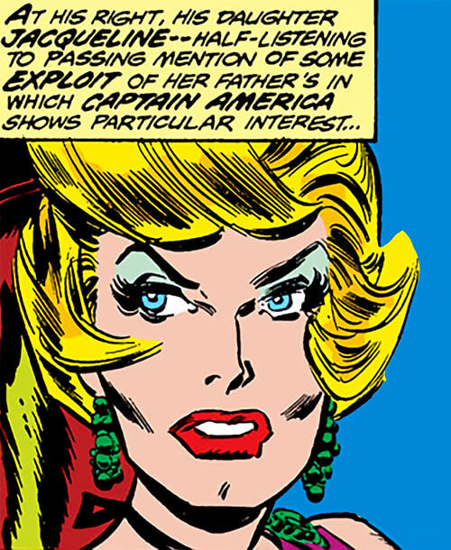 Spitfire of the Invaders (Marvel Comics) (early wartime) face closeup as Jacqueline Falsworth