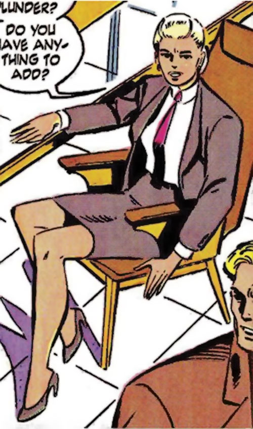 Spitfire of the New Invaders (Marvel Comics) (Jacqueline Falsworth) in a business suit
