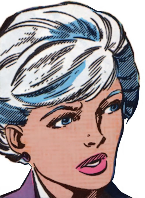 Spitfire of the New Invaders (Marvel Comics) (Jacqueline Falsworth) face closeup