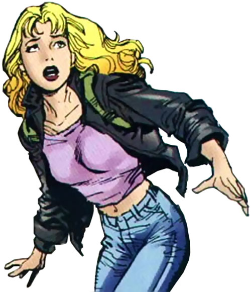 Spoiler (Stephanie Brown) in her civvies