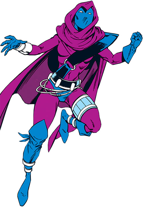 Spoiler (Stephanie Brown) running over a white background
