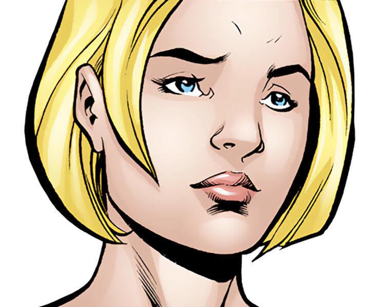 Spoiler (Stephanie Brown) (1990s DC Comics) (Batman / Robin character) sad face closeup