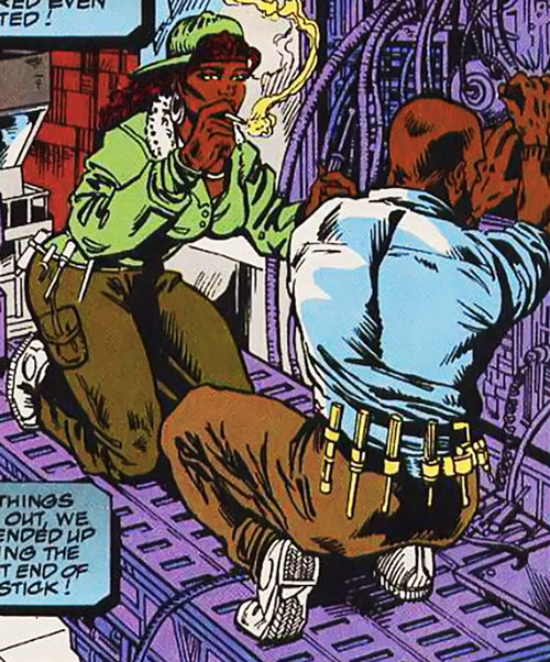 Sprocket (Marvel Comics) (New Warriors) working with Chord