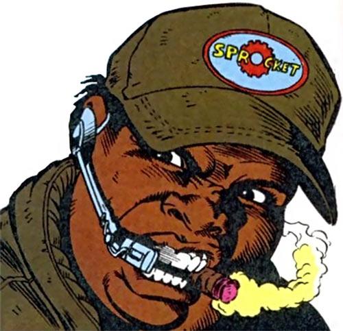 Sprocket (Marvel Comics) (New Warriors) face closeup