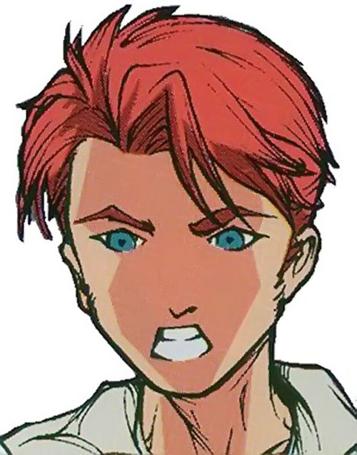 Spyboy (Peter David comics) as Alex face closeup