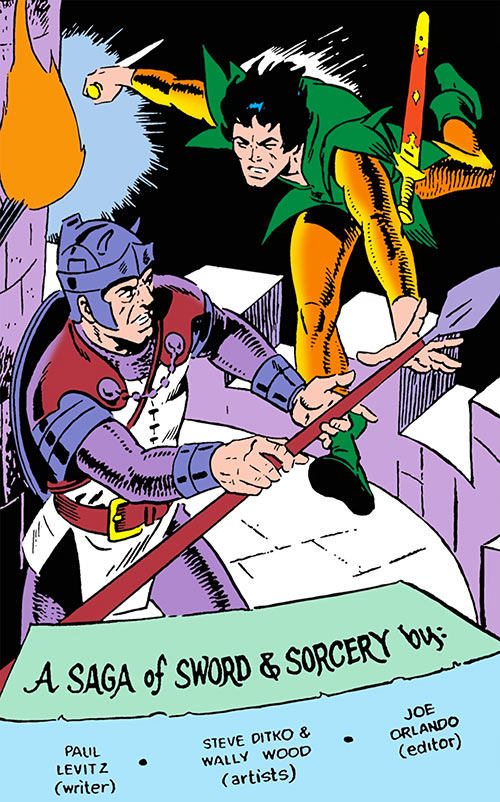 Stalker (DC Comics Implosion) attacks a guard, by Ditko and Wood