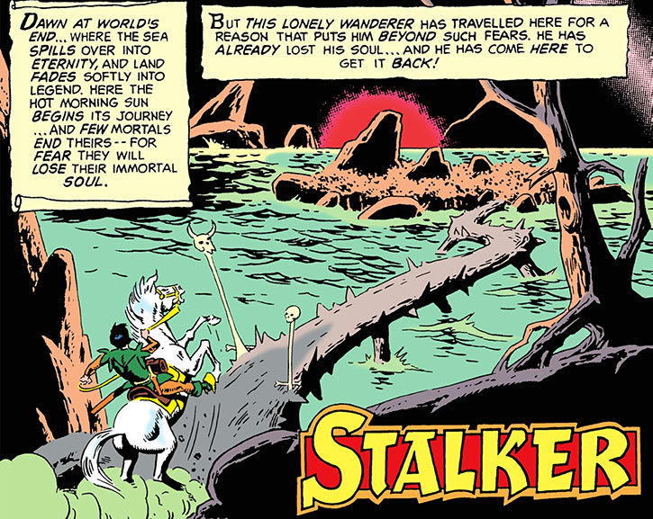 Stalker at the edge of his world, by Steve Ditko