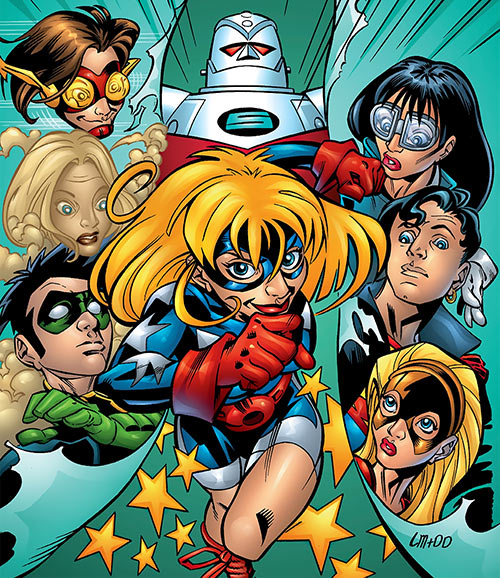 Star-Spangled Kid (Courtney Whitmore) (early, pre-Stargirl) (DC Comics) and Young Justice