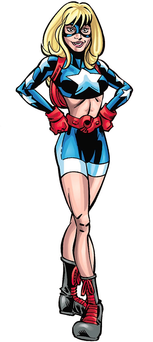 Star-Spangled Kid (Courtney Whitmore) (early, pre-Stargirl) (DC Comics) posing