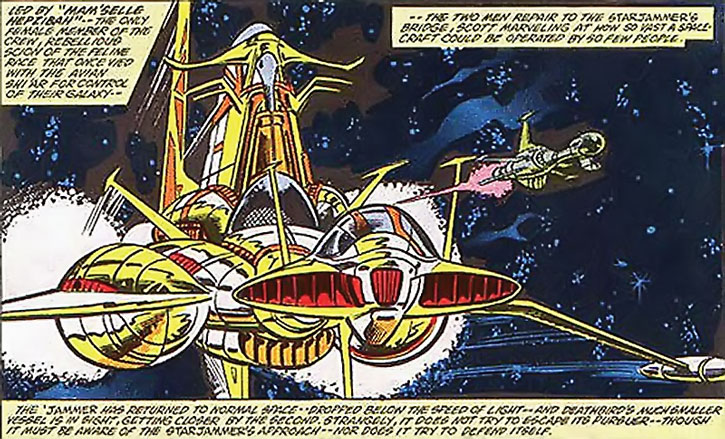 An old version of the HMSS Starjammer starship