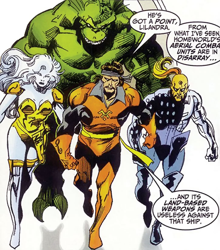 The Starjammers power-walking