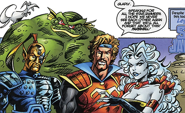 The Starjammers being sarcastic