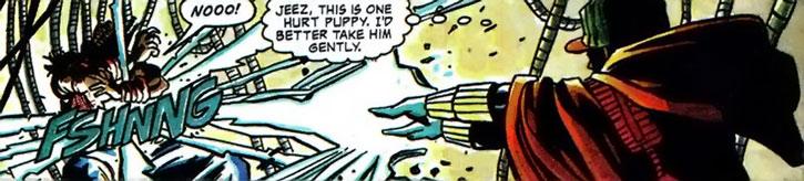 Static (Virgil Hawkins) delivers a lightning attack