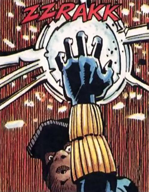 Static (Milestone Comics) Taser hand