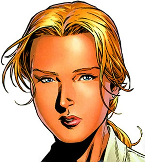 Stature of the Young Avengers (Marvel Comics) face closeup
