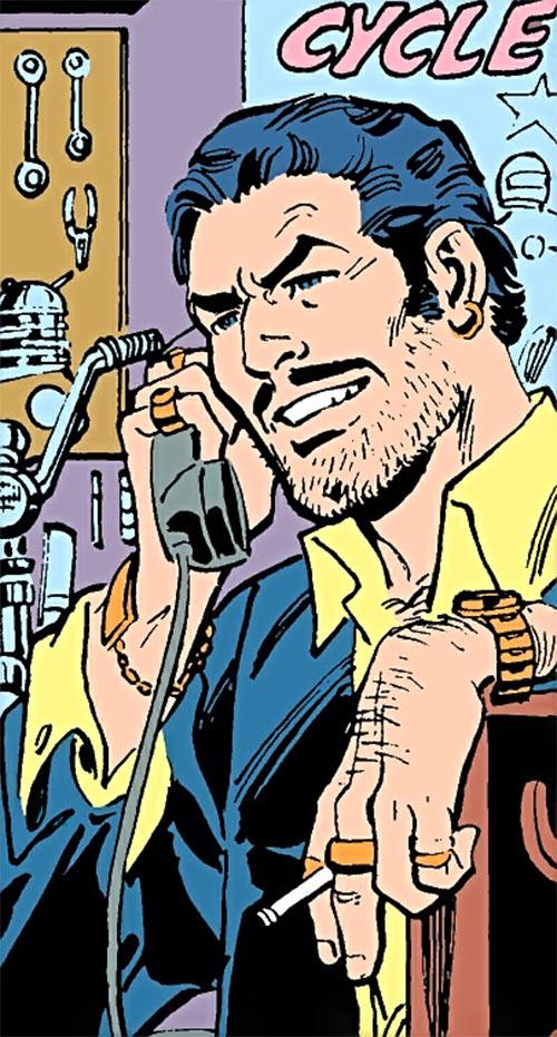 Steamroller (Demolition Team) (DC Comics) in his civvies