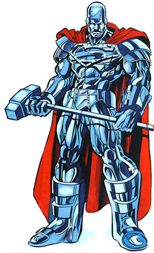 Steel (John Henry Irons) (DC Comics Superman) man of steel armor and full metal hammer