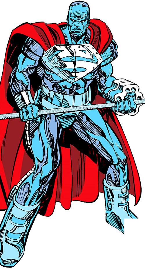 Steel (John Henry Irons) (DC Comics Superman) man of steel armor with rivet launcher