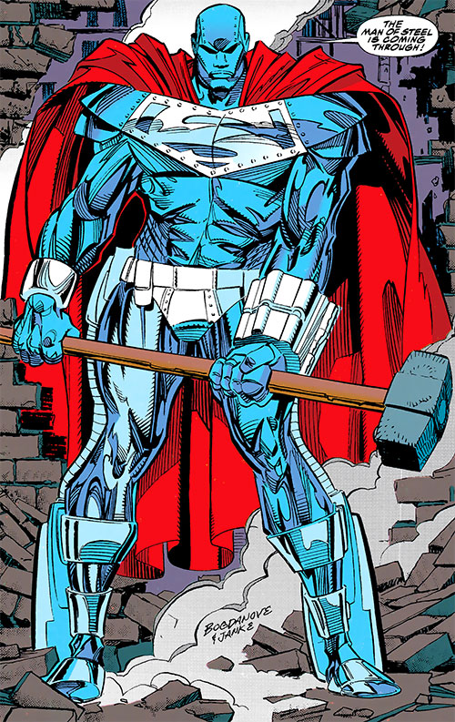 Steel (John Henry Irons) (DC Comics Superman) man of steel armor and a sledgehammer