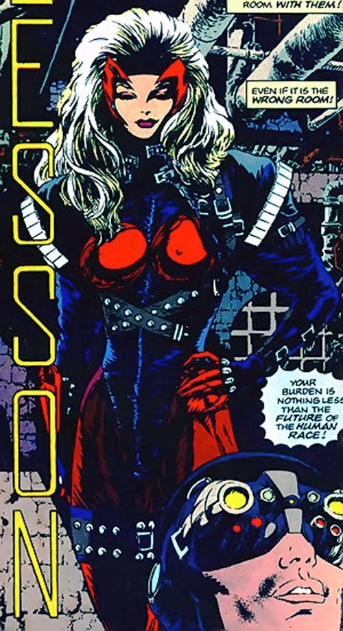 Steel Raven (Marvel Comics) behind an agent