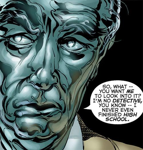 Steeljack (Astro City Comics) (Tarnished Angel) face closeup