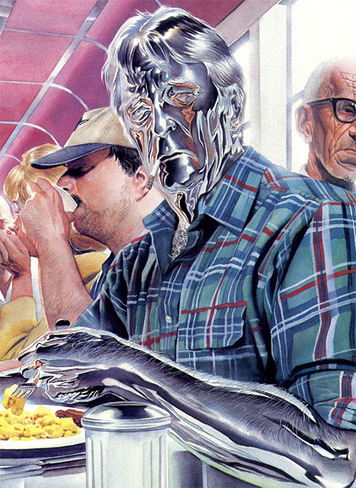 Steeljack (Astro City Comics) (Tarnished Angel) in a dinner