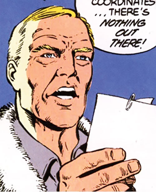 Steve Trevor (Wonder Woman ally) (Post-Crisis DC Comics) examining papers