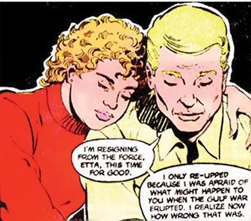 Steve Trevor (Wonder Woman ally) (Post-Crisis DC Comics) with Etta