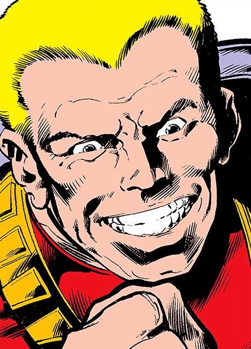 Stiletto (Luke Cage enemy) (Marvel Comics) face closeup