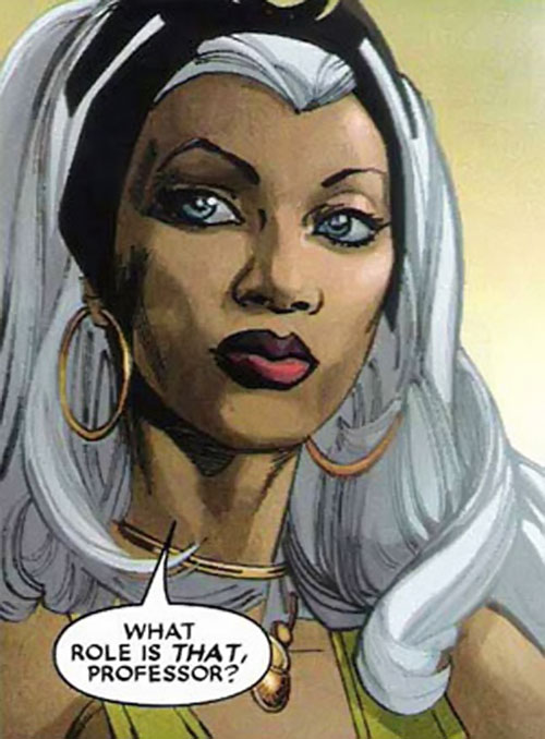 Storm of the X-Men (Marvel Comics) face closeup by Simone Bianchi